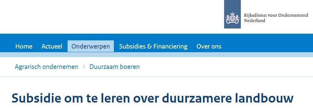 Subsidie Op Coaching Bij AgrarischeCoaches.nl